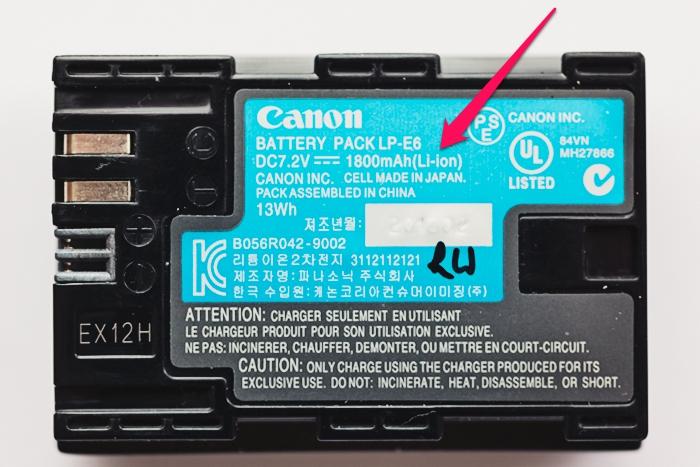 Oznaczenia akumulatorów. Warsztaty Fotograficzne – Edu.